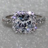 Wholesale Brand Jewelry Women s Silver Filled White Sapphire Diamonique CZ Gemstone Wedding Ring