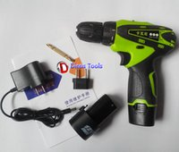 Wholesale 12v electric screwdriver lithium battery screwdriver double speed cordless drill battery drill multi function torque adjust LED light