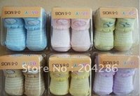 baby light socks - Popular striped flanging socks for sale baby wear light colored cotton sox pairs