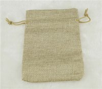 Wholesale JLB x15cm quot x5 quot Faux jute Hessian Mini Drawstring Bags wedding bomboniere Gift burlap sack bagsk bags
