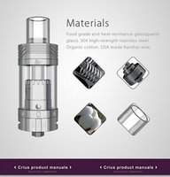 amazing launch - New Launched OBS innovative RTA atomizer ecig Crius with all parts detachable Side filling RTA Amazing Price Provide