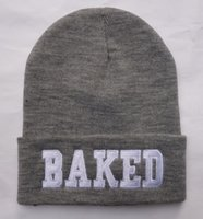 Cotton beanie store - Hats Caps Store HOT Grey BAKED beanie hats knitted caps winter beanies caps Quality headwear knitted street hat mens sports beanies HF