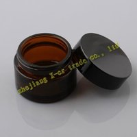 jar glass - Capacity g dark brown glass jar cosmetic containers Cosmetic Jars glass cream jar Frosted glass bottle