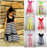 chevron dresses - Chevron Halter Maxi Dress colors Baby Girls Kids Chevron Cotton Maxi Dress Summer Long Beach Dress