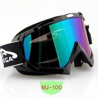 atv racing frames - Black Frame Anti UV Windproof Motocross ATV Dirt Off Road Racing Goggles with Colorful Lens MJ100