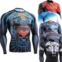 mma shirt - SuperDeals MMA Crossfit Compression Shirt Super Elastic Baseball Softball Running Cycling Gym Top Shirts Ropa Gimnasio Culturism
