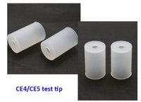 Wholesale World cheapest CE4 CE5 MT3 atomizer tip caps disposable silicone test tips for promotion DHL Free