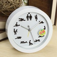 Wholesale 2015 Hot Cultural Arts Creative Novelty Sex Clock Home Decoration Sexy Position Pattern Wall Digital Clocks For Living Room