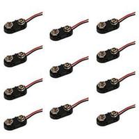 9 volt batteries - New Snap on V Volt Battery Clip Connector Black V T Fonts Soft Shell Battery Buckle