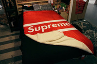 Cheap Free shipping NYC 100% brand sofa blanket Fashion superme soft lamb fleece blanket bedding throw Faribault® beach towel