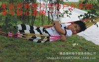 Wholesale Leisure hammock hammock color of ribbon mesh nylon cloth hammock outdoor leisure hammock