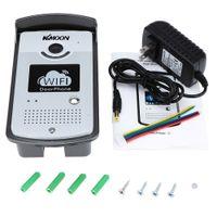 Wholesale KKMOON WIFI Video IR CUT Home Security Doorphone Wireless Visual Phone Control Waterproof Door Bell DHL S458