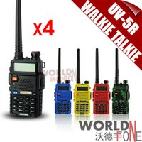 Wholesale BaoFeng UV R Walkie Talkie Dual Band Interphone Transceiver Mhz Mhz with mAH Battery free earphone
