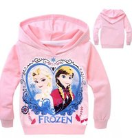 Wholesale Baby Frozen Olaf Hoodies Kids Sweater Hoodies Color Top Cotton T shirt Fashion Children Long Sleeve Clothes