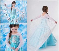 Cheap 2014 New fashion girls Frozen elsa dress Frozen Costume Elsa princess Dress for Children vestidos de menina