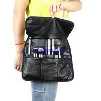 Wholesale New hot sale Pocket Professional PU Cosmetic Makeup Brush Bag Apron w Artist Belt Strap Makeup