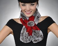 Wholesale New Real REX rabbit fur scarf flower edge decoration women wrap winter cape shawl neck warmer top quality thick