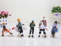 naruto - 5pcs Set Naruto Anime Action Figures Toy Kakashi Gaara Uchiha Sasuke PVC Dolls Collection Toys Children s Gift Sets