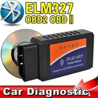 Wholesale 2015 OBD OBDII Car Scanner Code Reader ELM327 V1 Bluetooth Vehicle Diagnostic Scan Tool Kit ELM works on Android