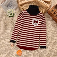 Wholesale Hot Autumn Winter Long Sleeve Children Sweater Kids Turtleneck Sweaters Baby Girls Outerwear Colors