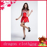 basketball party themes - Baseball Basketball Cheerleaders Theme Costume Halloween Party Cosplay Suits Sports Day Costume For Women w Red