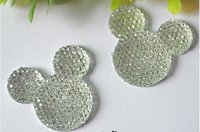 Wholesale 33 MM colors Resin Flatback Cabochon Flowers Mickey Mouse Flat Back Rhinestone Cabochon Beads star DIY mobile accessories
