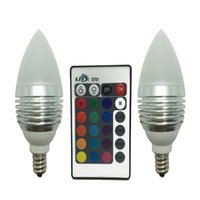 Wholesale 2 Pack E12 Candelabra W RGB LED Light Remote Control Color Changing Candle Lamp Bulbs