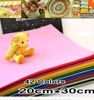 Wholesale 42Piece CM CM piece Polyester Nonwoven Felt Fabric DIY Felt Fabric Pack MM Thick