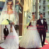 Crown vestido de novia - Vestido De Novia Ball Gown Wedding Dresses Sheer Neck New Arrival Sexy Backless Illusion Appliques Lace Ball Gown Bridal Gowns BO7084