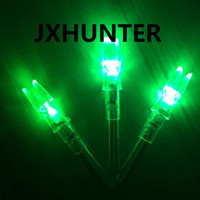 Wholesale 3PK high quality String activated automatically lighted arrow nock arrow tails for ID mm hunting arrows Green color