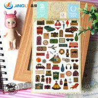 Wholesale Pack SONIA Travel Stories Aesthetic Decorative Paper Stickers Diaries And Albums Decorative Stickers