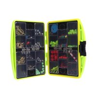24 Compartments Fishing Tackle Box complet Loaded Spoon Hook Lure Sinker résistant à l'eau