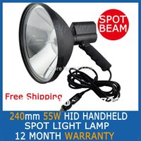 Wholesale 55W quot inch mm Handheld HID Xenon Spotlight Handheld Driving Lights Hunting Search Boat Fishing Lamp