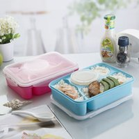 Wholesale 4 Compartment Microwave And Dishwasher Safe PP Leakproof Bento Lunch Box Food Container With Soup Bowl ml