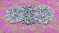 aa patches - Exquisite Silver Beaded Crystal Glass Drill Pearl Rhinestone Patch AA cm cm