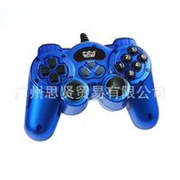 Wholesale Wellcome WE SUSB singles dual vibration Wizard USB PC gamepad six buttons with double rocker Game essential