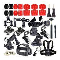 Precio de Plata hero4 gopro-Deportes al aire libre común Kit de accesorios para toda la cámara Gopro Hero4 Plata Negro héroe 4 3 + 3 Sj4000 Sj5000 Sj6000 Deportes