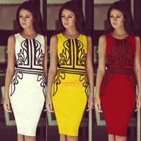 Wear to Work sexy mini skirt - Vintage Plus Size Summer Pencil Skirt Work Dresses Sexy Sheath Mini Red yellow Cusual Club Party Gowns Summer Cheap Dress OXL141127