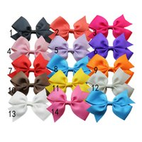 Wholesale grosgrain Ribbon Bows children hair accessories WHIT Clip Baby Boutique bows hair pins quot quot D31M