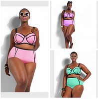 Wholesale swimwear plus size women Bandage Bikini Swimsuit High Waist Padded Tassel Plus Size Swimwear for Women Large Bikini Set Bathing Suit R00693