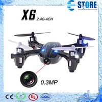Wholesale 0 MP Camera Drone Top Selling X6 Quadcopter RC VS Hubsan X4 H107C CH G w Remote Control Toys RC Helicopter