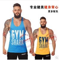 Cheap Golds Gym Stringer Tank Top Men Bodybuilding Clothing and Fitness Mens Sleeveless Shirt Sports Vests Cotton Singlets Muscle Tops