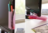 Wholesale New Office Desk Home Office Artifact Computer Display of A Portable Pen Desktop Box pen sundries container