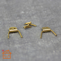 Wholesale 1 Dollhouse Hinge mini furniture DIY accessories copper hinge pocket pair and the four small nails