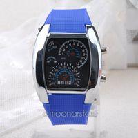 aviation displays - 2015 Unique Design Aviation Turbo Dial Watches Men Flash LED Digital Watch Women Gifts Sports Wristwatch relojes