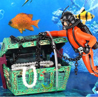 Wholesale Treasure Hunter Diver Action Figure Fish Tank Ornament Aquarium Decoration Landscape
