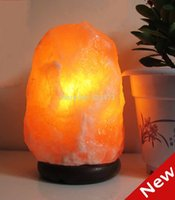 salt crystal lamps - Himalaya crystal salt table lamp light natural ore for living room bedroom beside desk home decoration abajur lamp