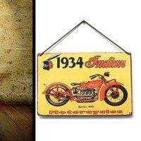 Wholesale New Modern Design Decor Pub Tavern Garage Tin Sheet Metal Sign Indian Vintage Picture LD210