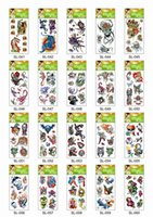 Wholesale 60Pcs Mini Water Transfer Temporary Tattoo Sticker Skull Flower Tiger Eagle Lion Snake Flower Random Cheap