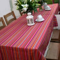 Wholesale Chinese Style Decorative RED Cotton Restaurant Coffee Table Tablecloth Sofa Cloth